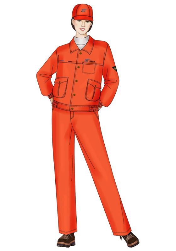 长袖建筑工服